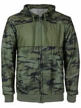 Men's Cotton Blend Zip Up Drawstring Fleece Lined Sweater Hoodie w/Defect  XL