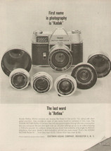 Vintage 1963 AD Print Kodak Retina Camera Lens Eastman Kodak Co. - $9.49