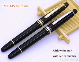 TOP AAAAA Unique design MB fountain 145 pen black resin ink converter Mi... - $26.99