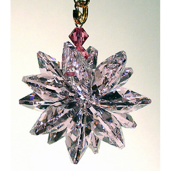 Small Colored Crystal Suncluster Ornament