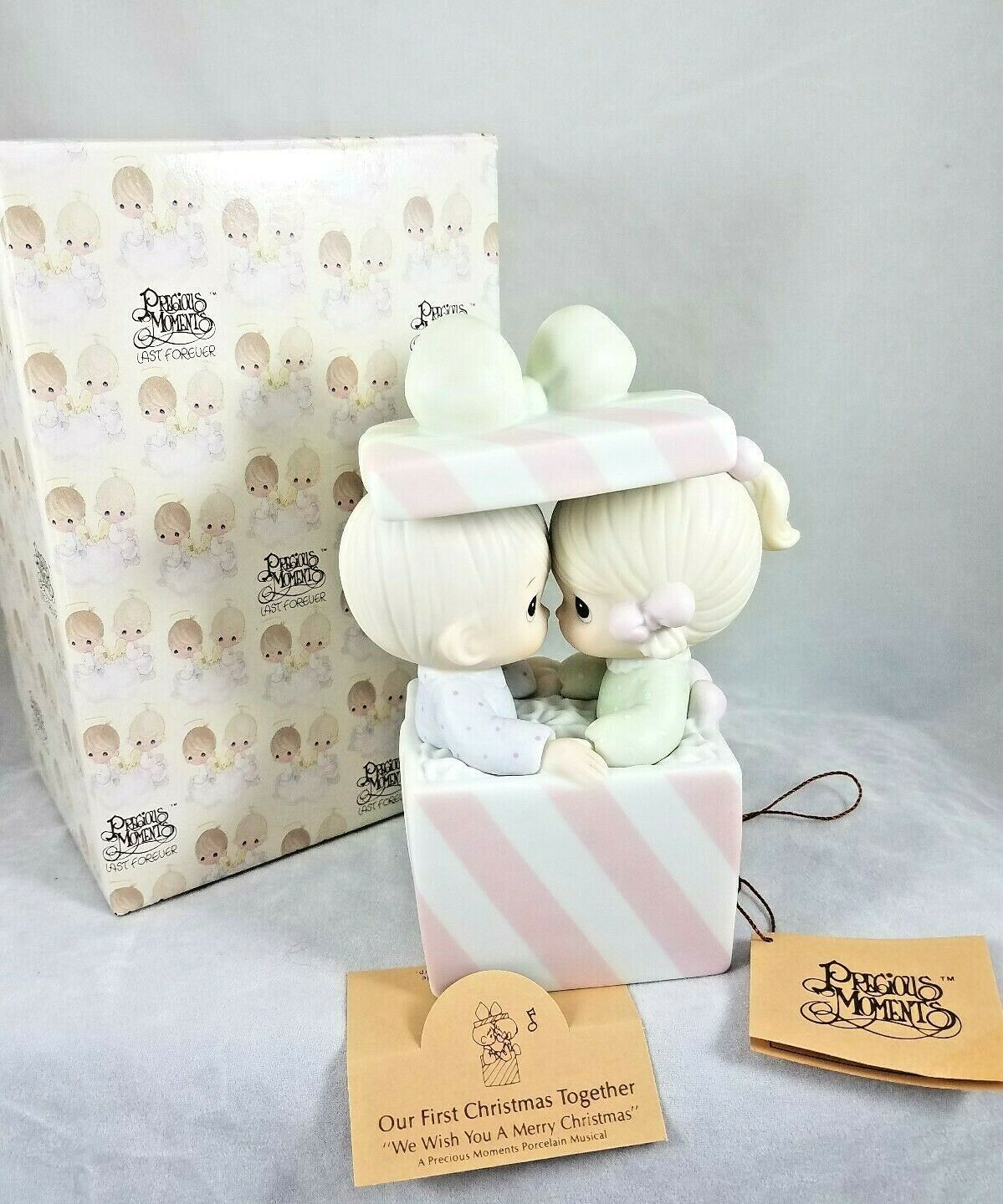 Precious Moments Our First Christmas Together Music Box with Box & Hangtag - $24.99