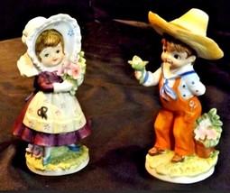 Boy and Girl KW7535 AA18-1189  2 Lefton Vintage Figurines image 2