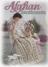 Afghan Sentiments, The Needlecraft Shop Crochet Afghans Pattern Hardback... - $7.95