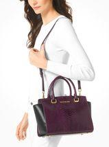 Michael Kors Handbag MD Selma Snake Embossed Leather Satchel, Shoulder B... - $229.99
