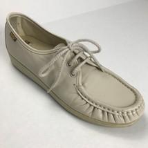 SAS Siesta Women Leather Lace Up Oxford Shoes Comfort Bone Beige - $32.75