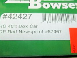 Bowser # 42427 CP Rail Newsprint 40' Boxcar  # CP 57067 HO Scale image 5