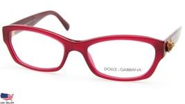 NEW D&G Dolce & Gabbana DG 3150 2681 OPAL RED EYEGLASSES FRAME 52-17-135... - $138.60