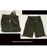 Red Iodine Cargo Board Shorts Army Green Sz 32 Belted NWT - $16.99