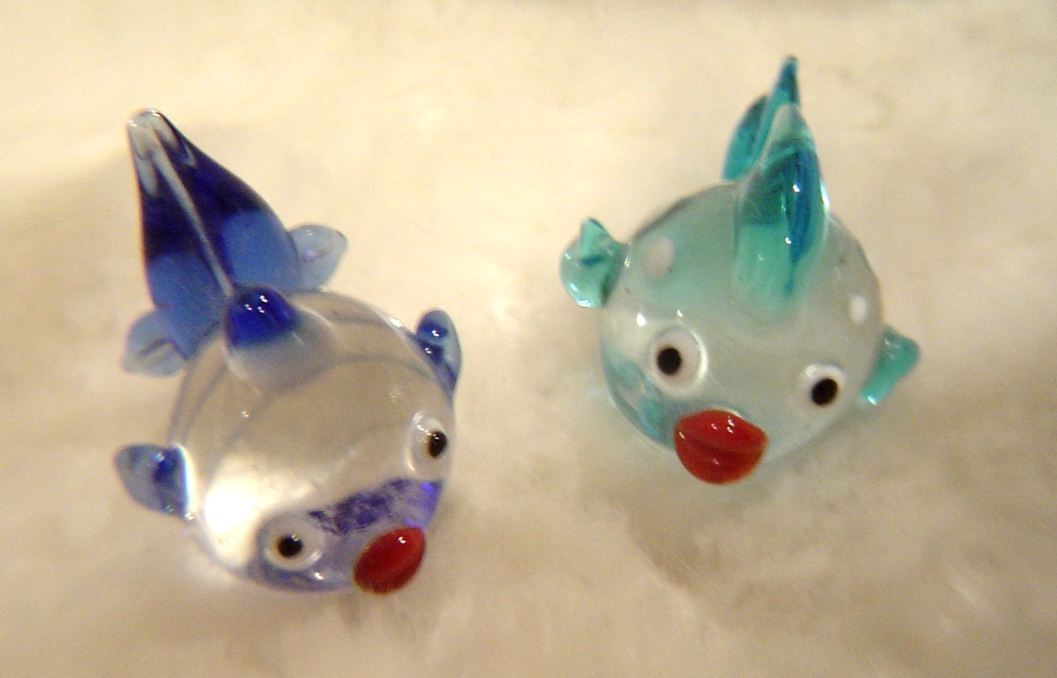 Primary image for Hand Blown Glass Fish Lampwork Art Glass Set of 2