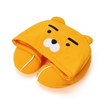 KAKAO FRIENDS Character Hoodie Neck Pillow RYAN Official Goods - €39,47 EUR