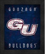 "Gonzaga Bulldogs ""Retro College Logo Map"" 13x16 Framed Print  - $39.95"