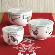 Better Homes & Gardens 3-Piece 12 Days of Christmas Nested Bowl Set with... - $16.87