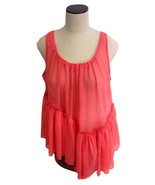 NEW NWT Mirumi Designer LF Stores Coral Sheer Sleeveless Blouse Top $96 ... - $17.50