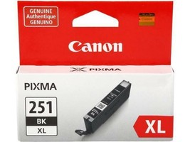 Canon CLI-251XLBK Black Ink Cartridge (6448B001) High Yld F/ PIXMA MG542... - $36.58