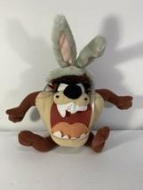 "Vintage Looney Tunes Tazmanian Devil Taz Bugs Bunny Ears Plush Doll 10"" 1999 ACE - $10.00"