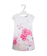 Mayoral Little Girls Sparkle Butterfly-N-Floral Pleated Back Dress - $38.90