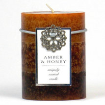 Amber Honey Pillar Candles  - $12.99+