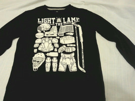 Boys Tee Shirt Sz M 8 Black Kids Light The Lamp - $16.99