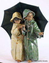 LLADRO GRES - UNDER THE RAIN #12077 - CHILDREN UNDER UMBRELLA - $540 VAL... - $148.32
