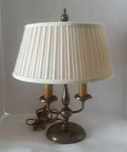 Antique Brass Bouillotte Lamp 2 Arm Candlestick Aged Patina French Empir... - $296.99