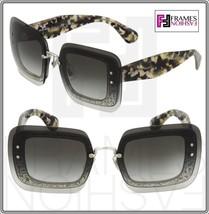 MIU MIU REVEAL Sunglasses MU01RS Transparent Grey Glitter Havana Gradien... - $267.30