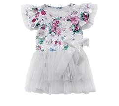 baby girls flower romper clothes - $11.58