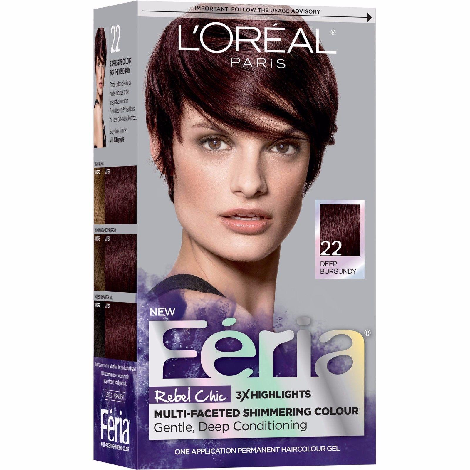 Loral Paris Feria Permanent Hair Color 45 French Roast Deep