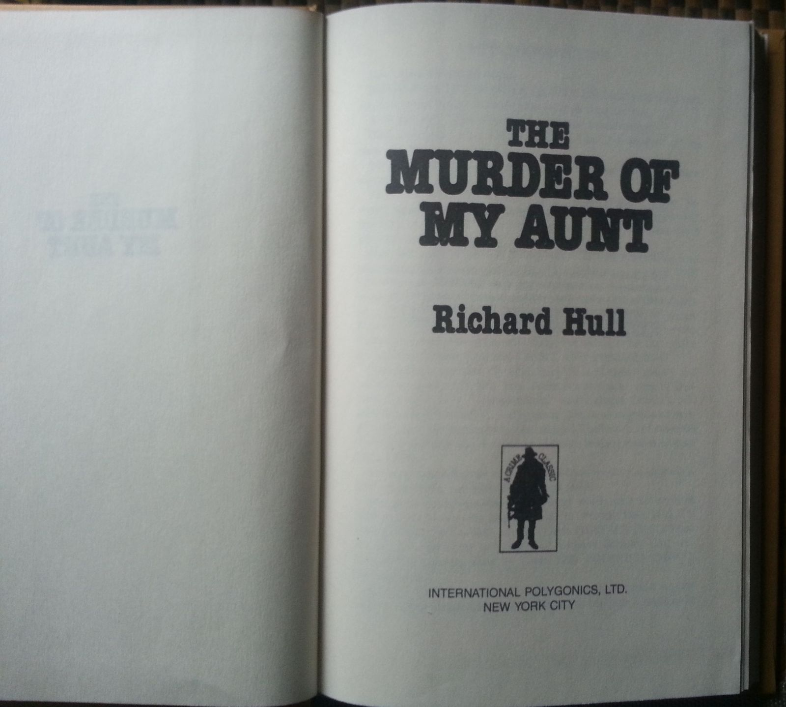 The Murder of My Aunt by Richard Hull 1974 HBDJ
