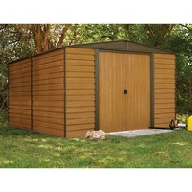 Metal Storage Shed Building 10 x 12 Sliding Lockable Latch Door Outdoor ... - $680.36