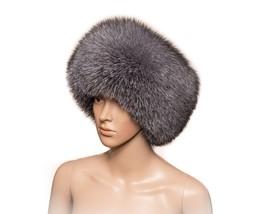Saga Furs Blue Frost Silver Fox Fur Handmade Always Trendy Classic Winte... - $209.06 CAD