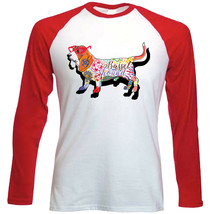 Basset hound c - NEW RED LONG SLEEVES COTTON TSHIRT - $19.53