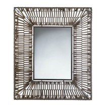Wall Mirrors, Big Wall Mirror For Living Room With Modern Faux Rattan - $72.41