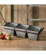 Country new TRI-BIN Square tin Organizer - $48.00