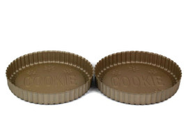 William Sonoma Set of 2 Cookie Cake Pan Brown Cast Aluminum Heavy Non St... - $24.74