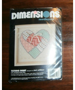 "Textured Heart Dimensions Needlepoint 5"" x 5"" Complete - $8.26"