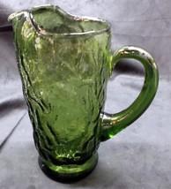 Green 50's Mid Century Modern Glass Quart Pitcher - No Res. - $17.95