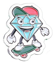 Diamond Supply Co.Metallo Lil' Cutty Skateboarding Spilla da Bavero Nuovo