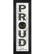 """Milwaukee Wisconsin Panthers """"Proud""""- 8x24 Wood-Textured Look Framed Prints - $39.95"""