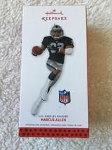 Hallmark Keepsake Marcus Allen Los Angeles Raiders Christmas Ornament New - $12.86