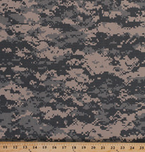 Digital Ripstop Cotton Camo Blend Camouflage Fabric Print By the Yard D906.04 - $8.99