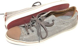Zara Brown Cap-toe Herringbone Sneaker Oxford Tennis Casual Shoes Size 1... - $18.81
