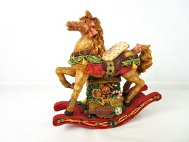 Windsor Collection Musical Rocking Horse Plays Jingle Bells Toy Box Elf - $24.69