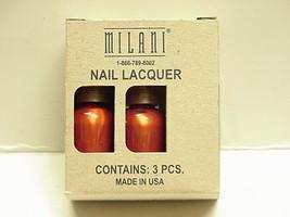 3 bottles Milani  Metallic Mango Nail Lacquer .045 fl. oz  - $7.91