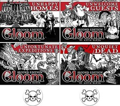 BUNDLE of 4 Expansions for the Gloom Card Game Unhappy Homes, Unwelcome ... - $72.34