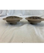 """NEW D&W 4"""" Round Rotaire Heat AC Vent 2"""" Outlet 3820DB Tan Lot of 2 - $13.20"""
