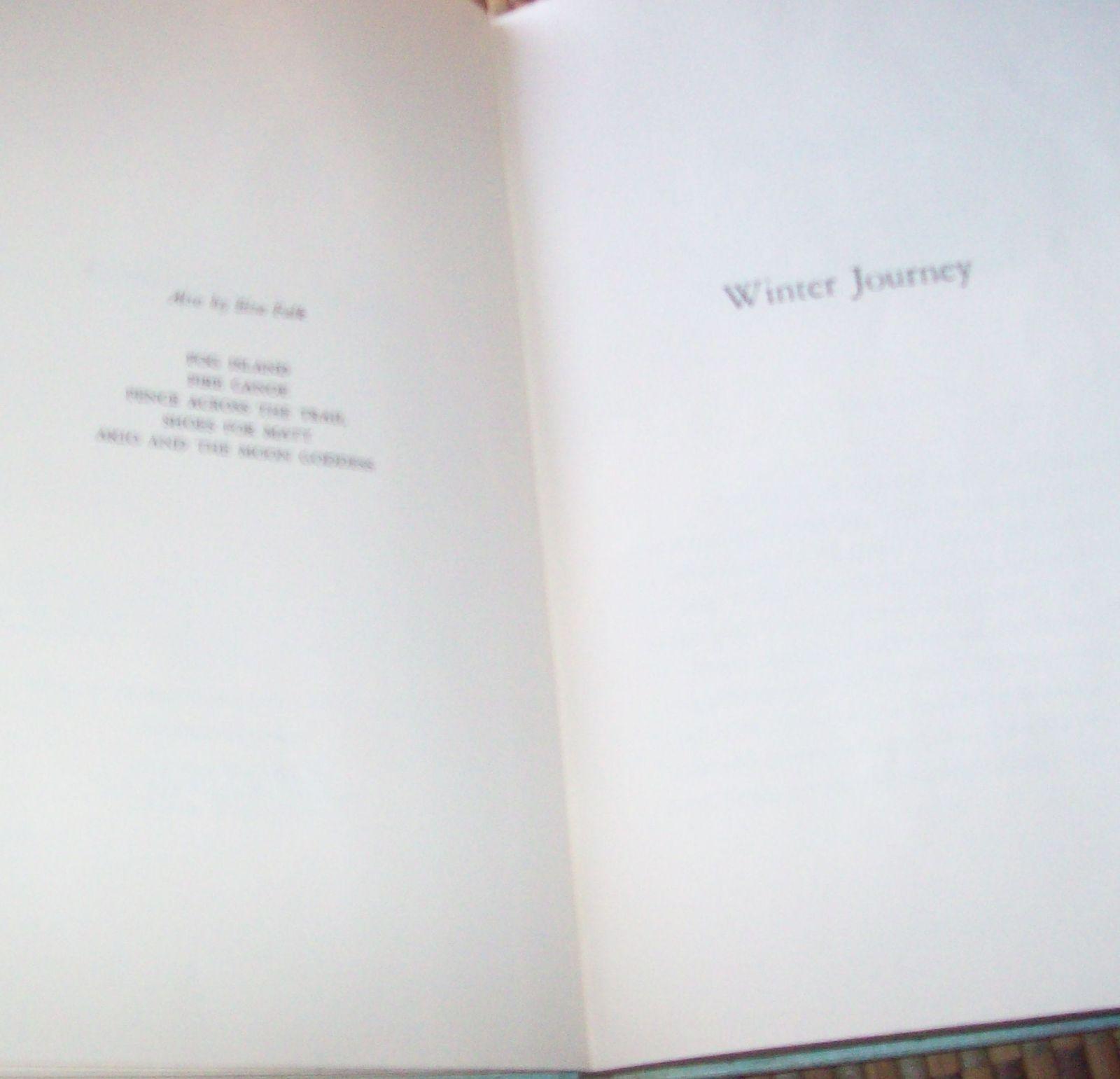 Winter Journey by Elsa Falk 1955 HB Minnosota Territory