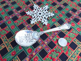 Gorham Sterling Silver Serving Spoon Christmas 2002 Chantilly Holiday Snowflake - $98.00