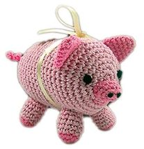 Knit Knacks Piggy Boo Organic Cotton Small Dog Toy  - $12.99