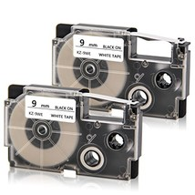 Absonic XR-9WE XR-9WE2S Labeling Tape Cartridge Compatible for KL60 KL10... - $10.25