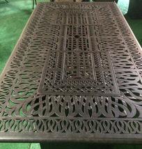 Fire pit dining propane table set 7 piece outdoor cast aluminum patio furniture image 7